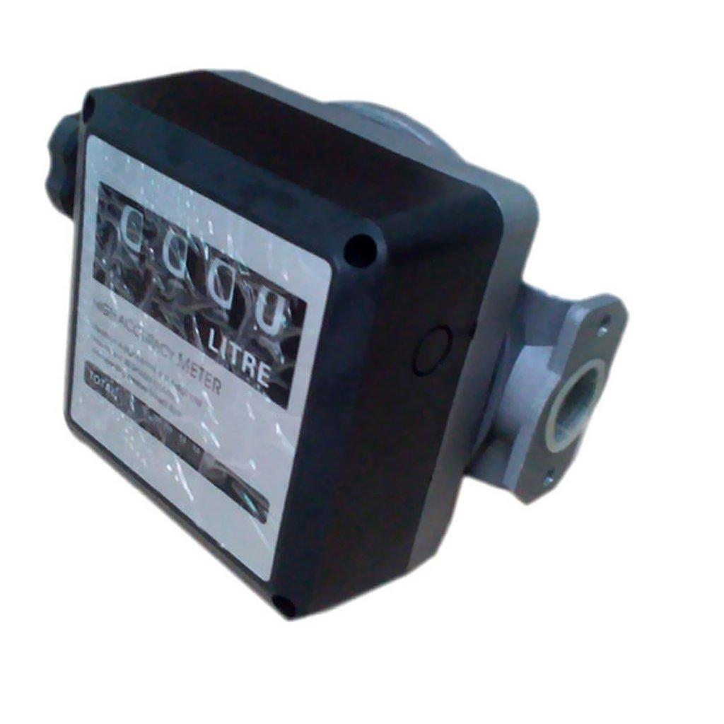 Sharplace 4 Brocas Medidor Digital de Gas/óleo Rotaci/ón Cero Instalaci/ón Horizontal Vertical Flexible