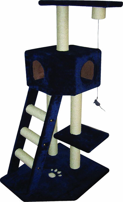 riga scalito 3084 kratzbaum katzenbaum mit 3 ebenen 1 leiter 4 pfosten 1 h hle und 1. Black Bedroom Furniture Sets. Home Design Ideas
