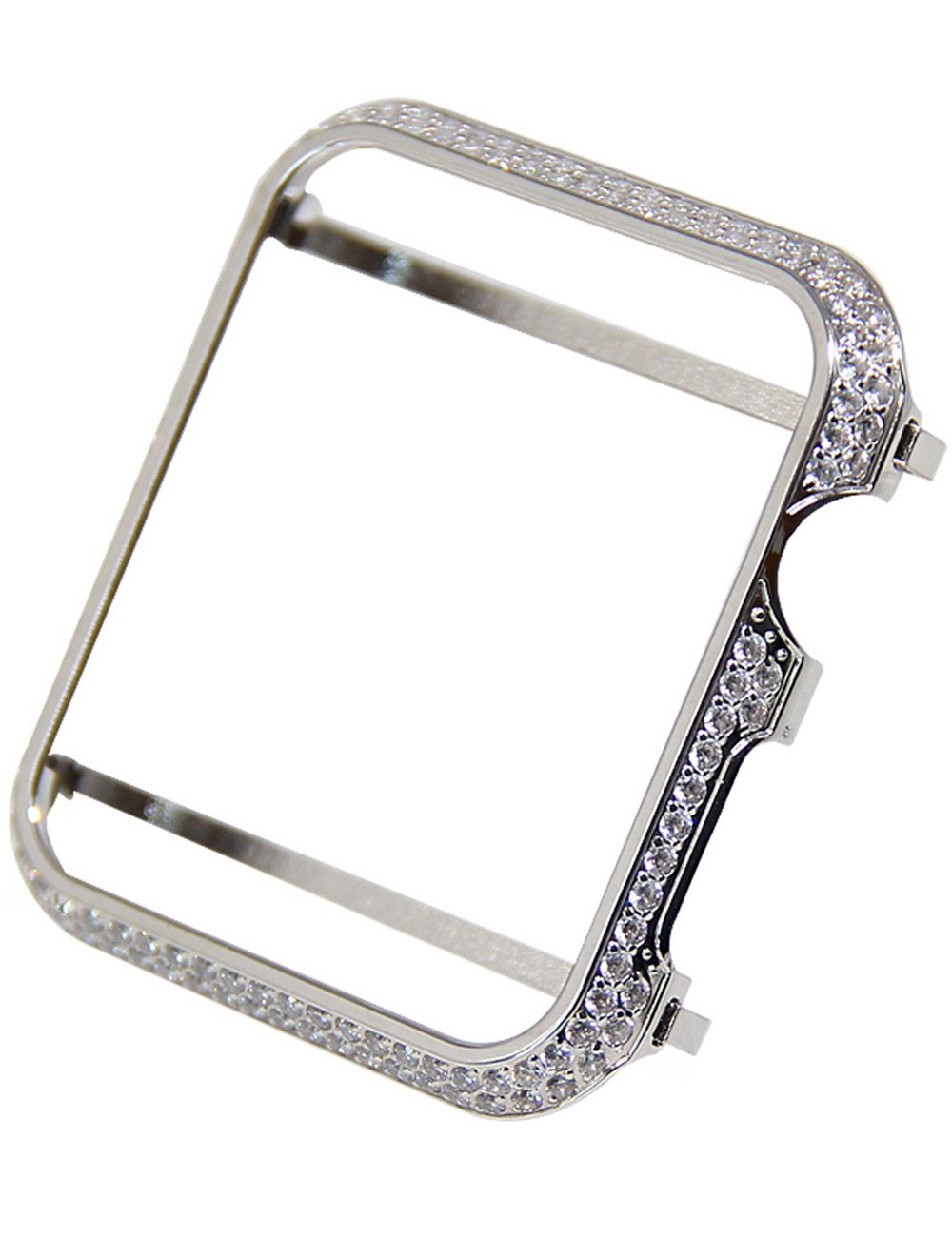 Callancity 38mm Crystal Diamonds Case face Cover Bezel Compatible with Apple Watch Series 1 2 3 (Platinum for Ceramic Edition)