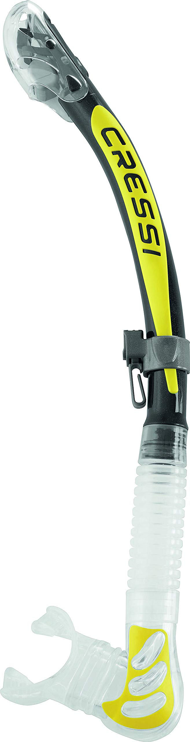 Cressi Alpha Ultra Dry Snorkel (Clear/Yellow) by Cressi