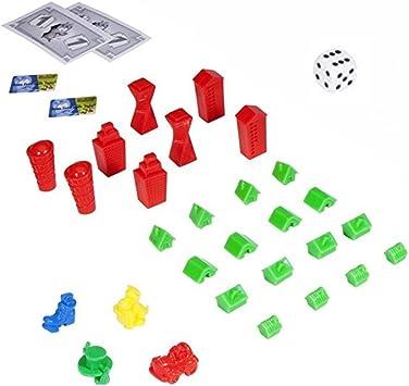 HASBRO Monopoly Crazy Cash – Juego de accesorios para billetes (billetes para Crazy Cash automática), casas & figuras, dados – sin Monopoly parte: Amazon.es: Juguetes y juegos