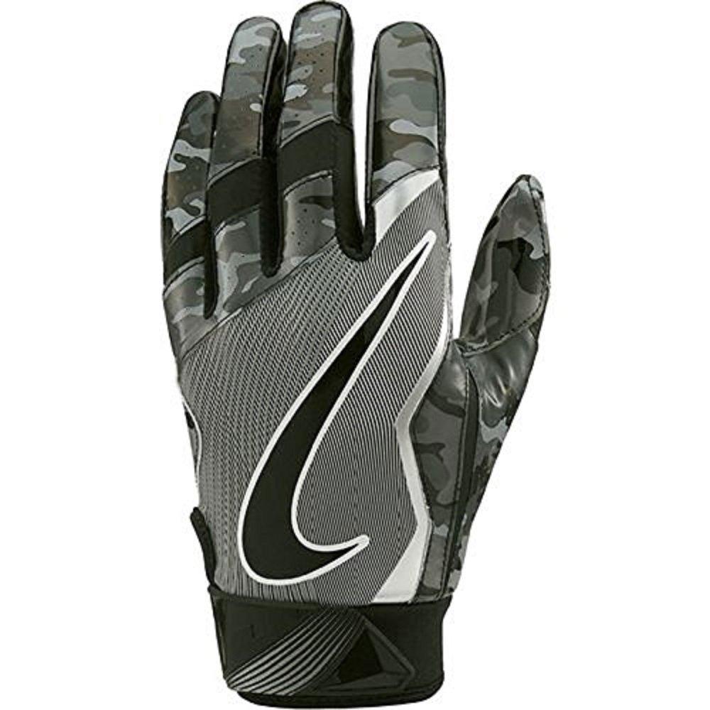 NikeメンズVapor Jet Lightspeed Football Gloves B01N51T03F Digital Camo Black / Grey / Metallic Silver Medium