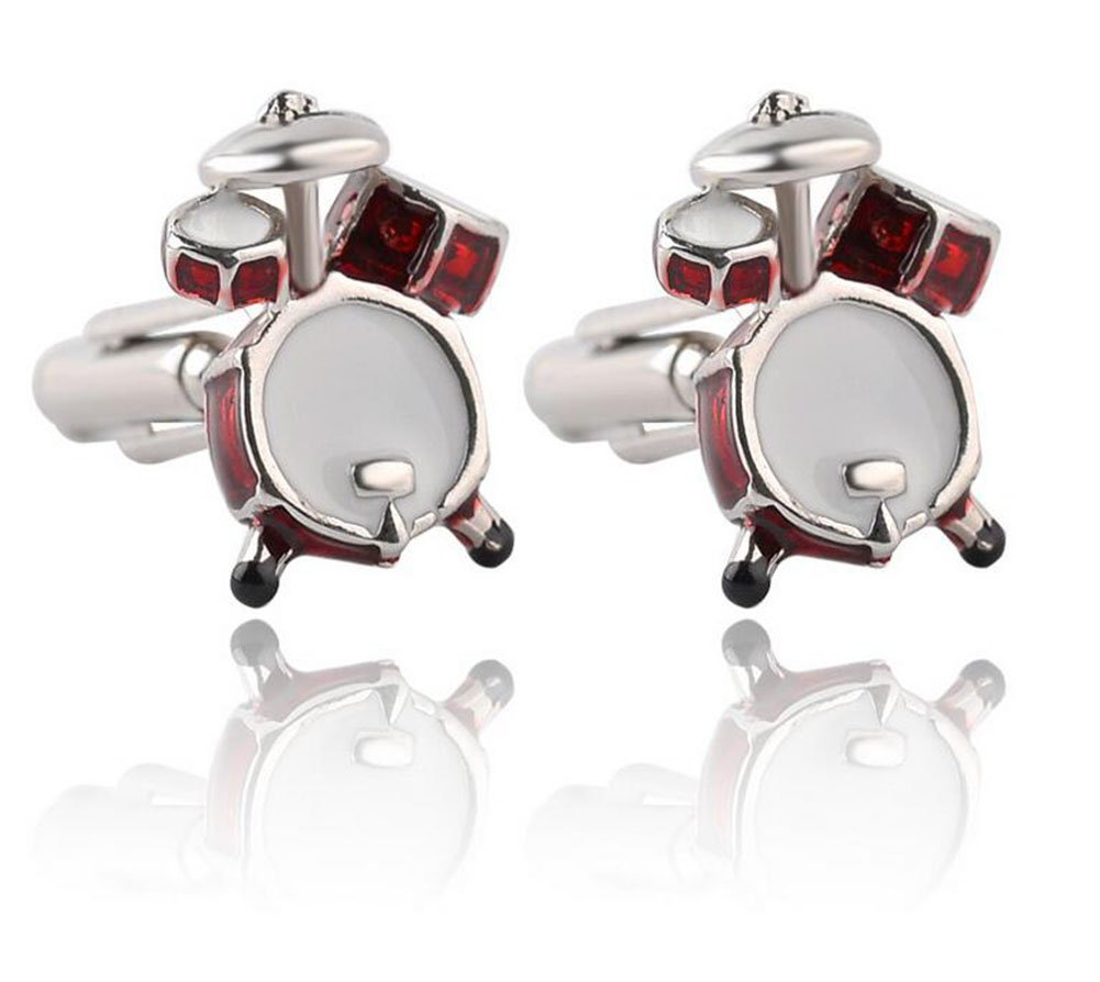Yonger Cufflinks Cute Drum Shirt Cuff Button Fashion Tuxedo Accessories Jewelry