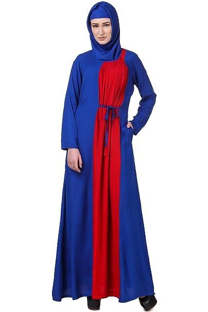 online retailer 34a36 d2224 MyBatua Islamico Abaya Blu e Rosso Casual e Abbigliamento ...