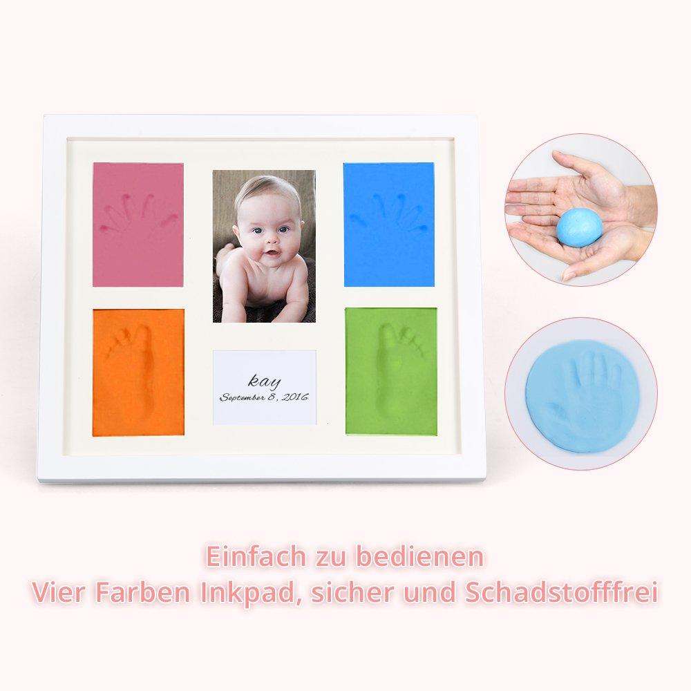 marsboy Baby Bilderrahmen Vier Farben Geburt Gipsabdruck Fussabdruck ...