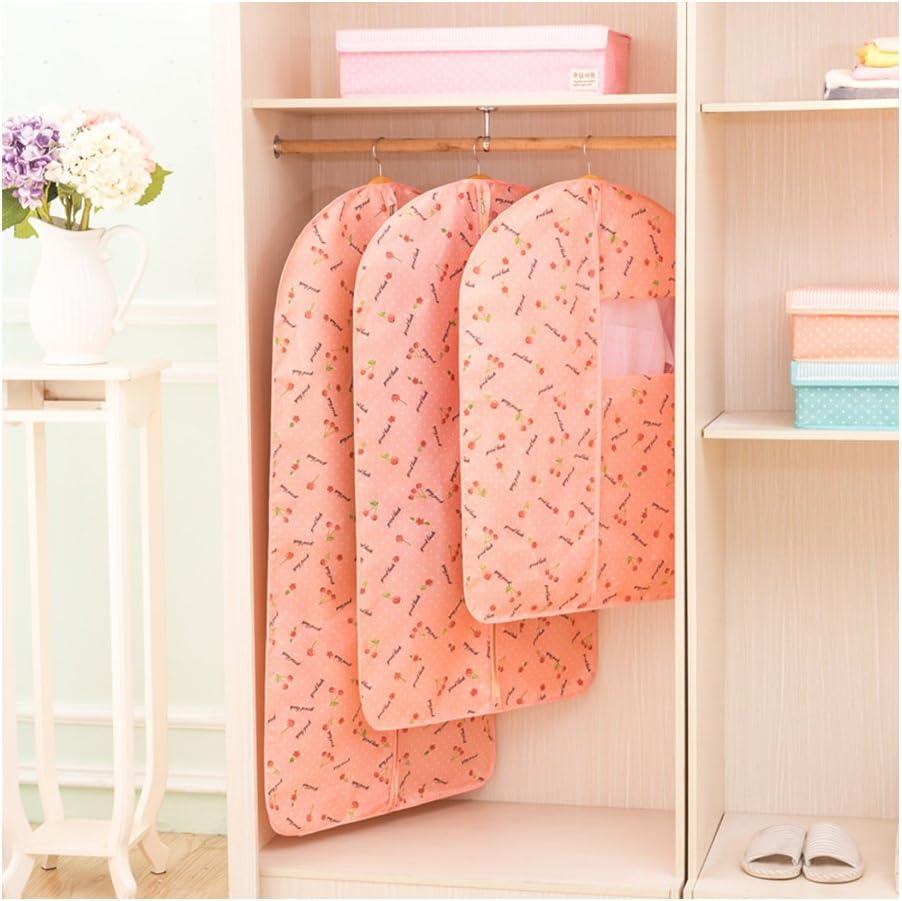 Stylehome Vestido/Abrigo Fundas para Prendas de Vestir Estuche Protector Transpirable y Bolsa Cherry - 3 tamaño pequeño y Mediano: Amazon.es: Hogar