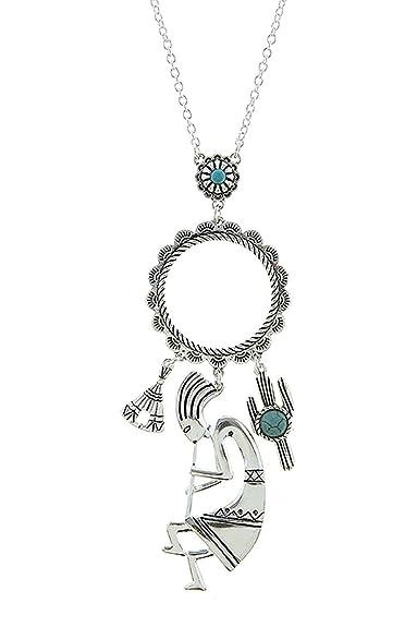 02e8fb670169 La joya de Kokopelli Mixed encanto collar  The Jewel Rack  Amazon.es   Joyería