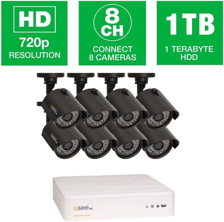8 High Definition 720p Cameras Ja 1TB HDD Q-See QTH8-8Z3-1 8 Channel