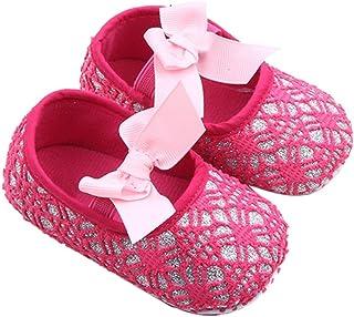 Sensail Bébé Fille Semelle Souple Chaussures Bowknot Fond Doux Fleur Prewalker Baskets