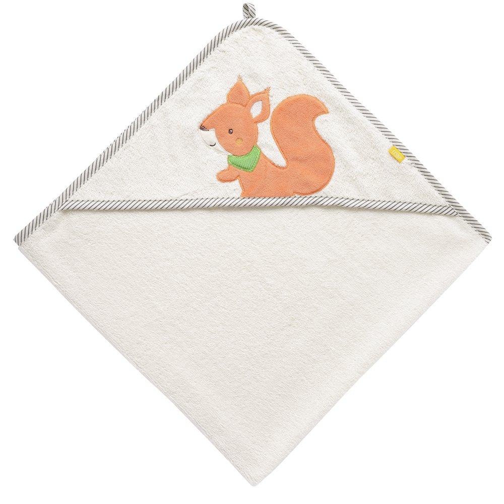 Bade-Poncho aus Baumwolle mit Eichh/örnchen Motiv f/ür Babys und Kleinkinder ab 0 80x80cm Monaten Fehn 061192 Kapuzenbadetuch Eichh/örnchen Ma/ße