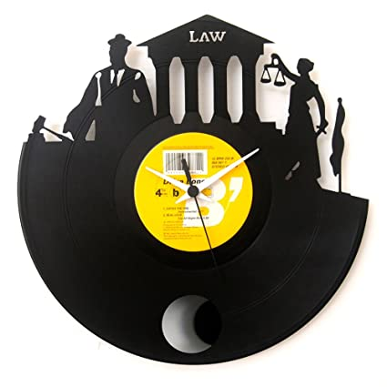 Lawyer gifts graduation gifts clock Vinyl clock Wall clock with pendulum Vintage Black Color Original Vinyluse