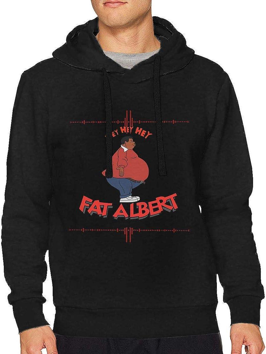 CHARLESNORTON Fat Albert Hey Men Cotton Casual Fashion Hoodie Black
