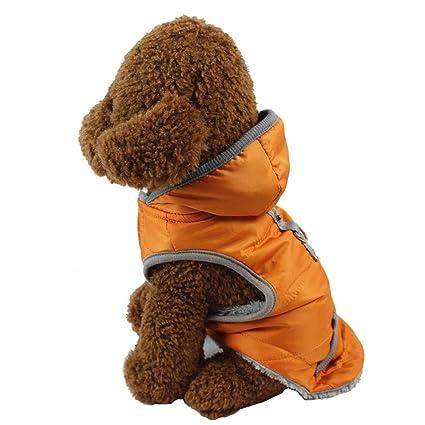 Sumferkyh Abrigo de Invierno Perro Otoño e Invierno Forrado cálido Perro Chaqueta para Cachorro Invierno Clima