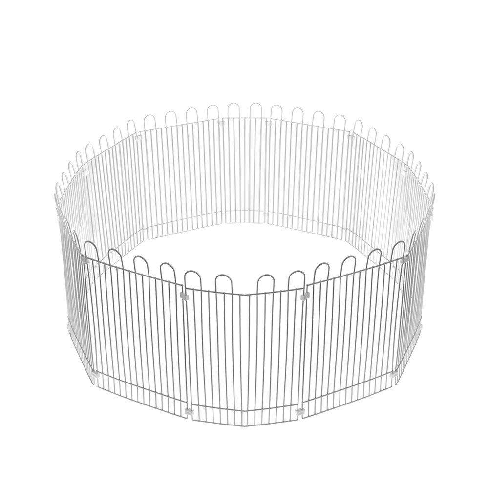 Yunt Hamster Fence Hedgehogs Guinea Pigs Bunnies Small Pet Exercise Fence Metal Pet Indoor Playpen Fence Yard Free Running Cage 12PCS 23cmx15cm