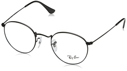 52fb84c9ee Image Unavailable. Image not available for. Colour  Ray-Ban Round Metal  Eyeglasses RX3447V 2503 Matte Black ...