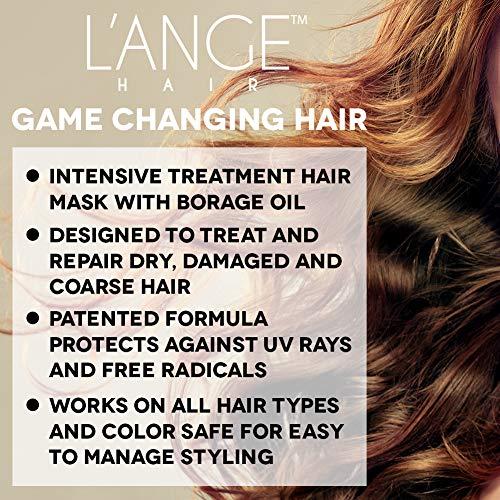 L'ange Hair Borago Borage Oil Deep Conditioning Masque | Powerful Nourishing Borage Oil for Hair | Ideal for Medium to Coarse Hair