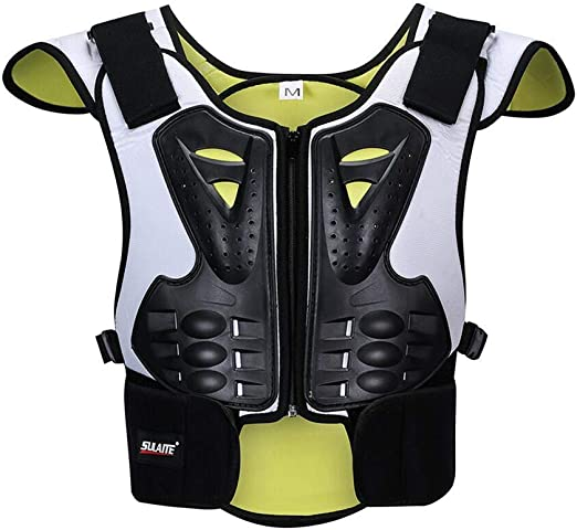 Wjh9 Kind Motorrad Körperschutz Brust Rücken Rückenprotektor Schutzweste Schutzausrüstung Für Motorrad Motocross Skifahren Snowboarden L Sport Freizeit