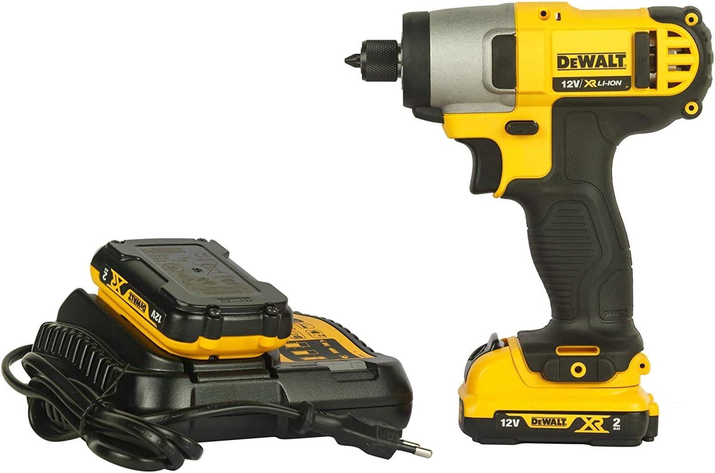 Dewalt DCF815D2-QW Atornillador Impacto XR 10, 9 W, 10.8 V, Negro y amarillo, 1/4