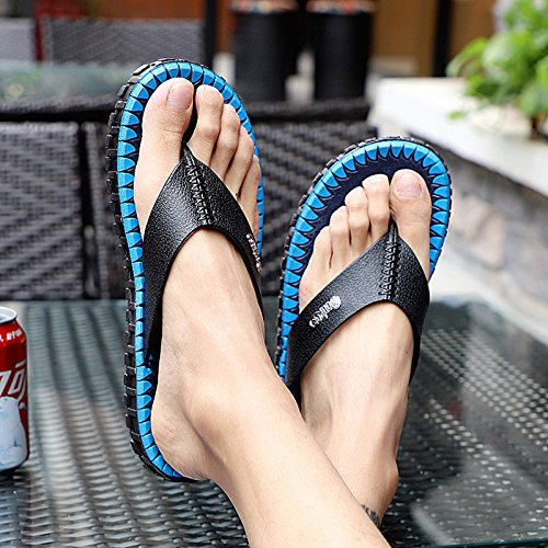 f48ff86a7 AIHUWAI Sandals Men S Sandals Flip-Flops Men S Summer Leisure Flip Flip  Flops Men S Indoor Anti-Slip Sandals Beach Shoes Men  Amazon.co.uk  Sports    ...