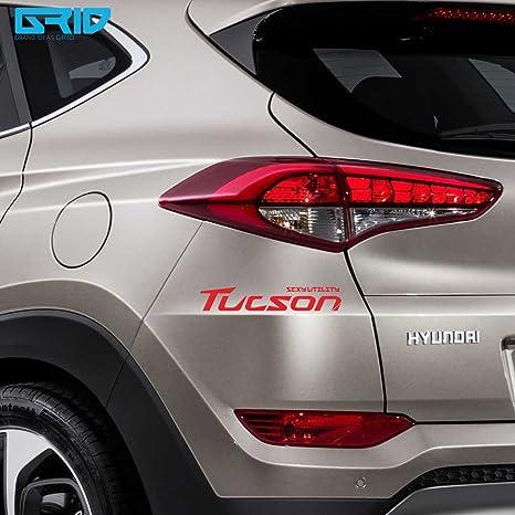 detailkorea (Red) coche lema letras adhesivo tipo A para Hyundai Tucson