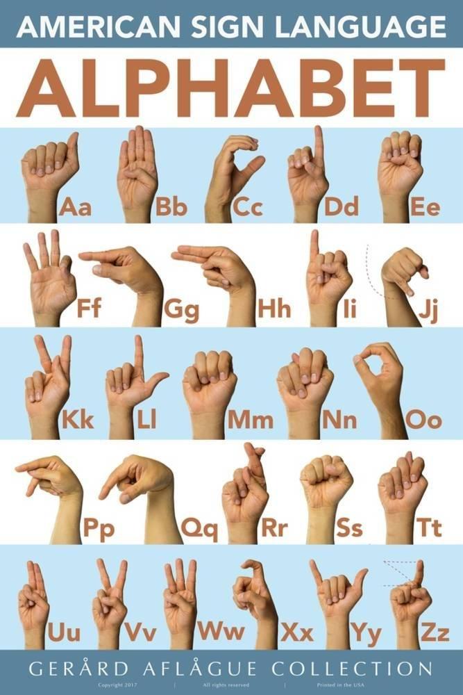 American Sign Language Classroom Print 36 x 24 in