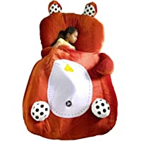 Shakti Boutique Teddy Bear Plush Toy Bed (Brown)