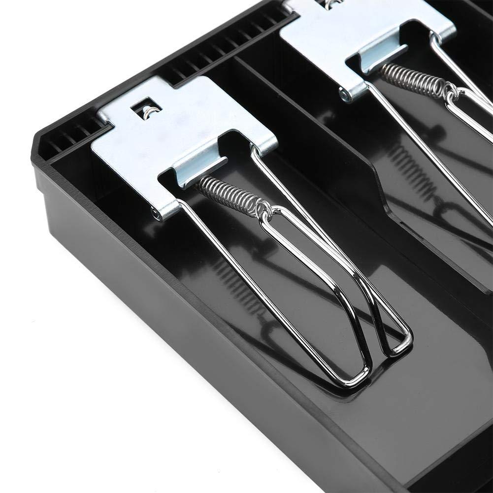 03 FTVOGUE Registratore di cassa Cassetto di ricambio per vassoio inserto con clip in metallo 4 fatture 3 monete per scatola di immagazzinamento denaro in contanti Petty