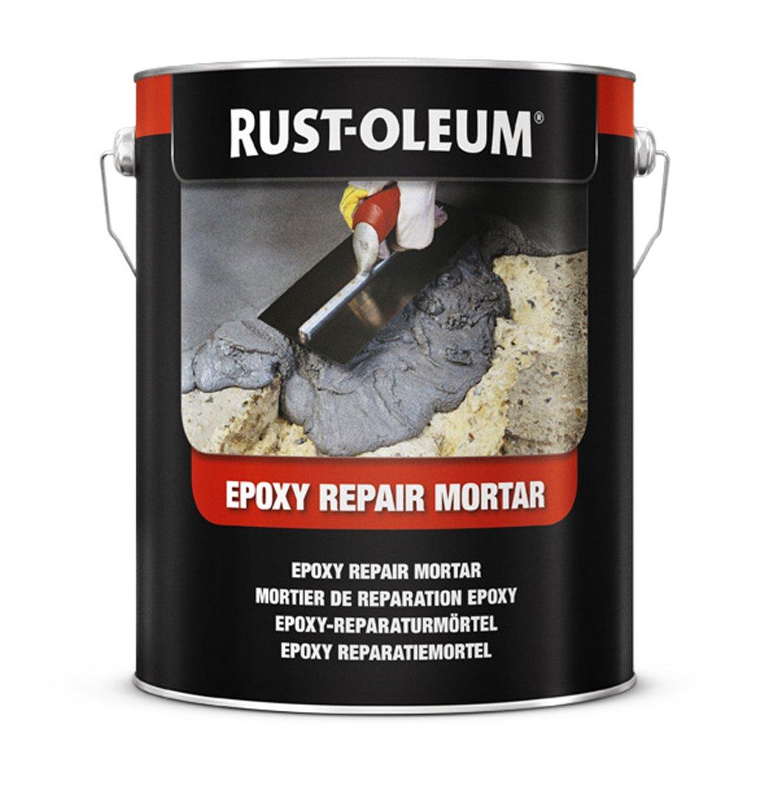 Rust-oleum 5180.2.5 epoxi reparació n mortero, 2 x má s fuerte que hormigó n, color gris oscuro 2x más fuerte que hormigón