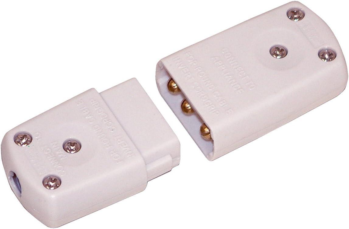 White.5 amp BS 5733//A 2 Pin Terminal Connector