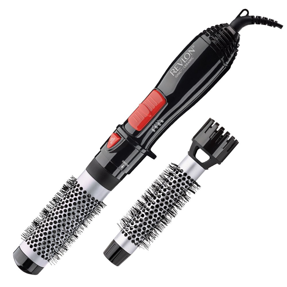 Revlon Ceramic Hot Air Brush Kit with 1'' & 1-1/2'' Brush Attachments