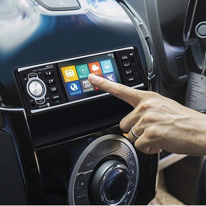 PolarLander Autoradio Bluetooth, Manos Libres Estéreo de Coche, Llamadas Manos Libres, 4 Pulgadas HD estéreo,de Pantalla de Espejo para Android ...