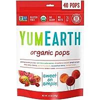 Yum Earth Organic Fruit Pops 40 Pieces, 241 g