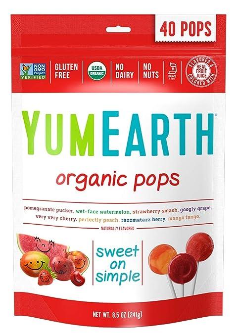 Organic vegan lollipops