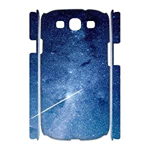 3D Samsung Galaxy S3 Cases Star Night Space Blue Galaxy Nature Ilike, Samsung Galaxy S3 Cases Galaxy, [White]