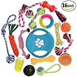 Dog Rope Toys Set of 16 -Puppy Chew Toys- Durable Dog Chew Toys - Dog Toys for Small and Medium Breeds- Cotton Dog Rope Toy for Training Tug-of-War Playing, Small Dog Toys, Dog Toys for Small Dogs