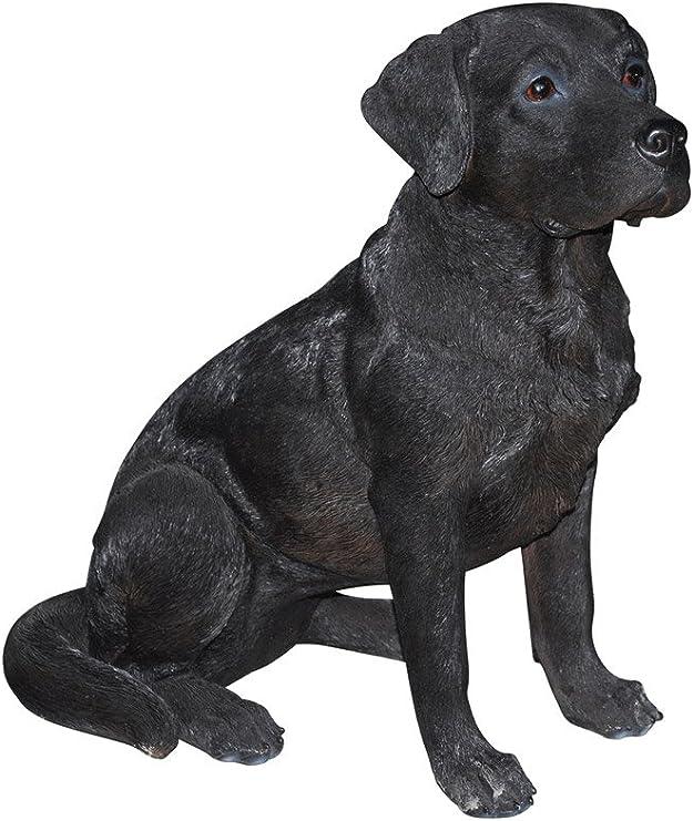 Cast Iron Black Lying Labrador Dog Statue//Home Garden Ornament//Feature