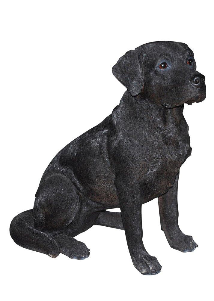 Hi-Line Gift Ltd Lab Dog Statue, 21'', Black