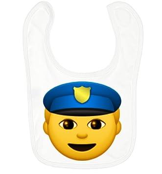 Bebé Babero policía con velcro – Babero para niño/niña bebé niño Emoji Smiley