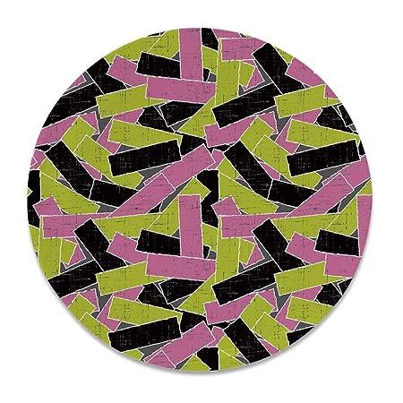 YOLIYANA Grunge - Plato Decorativo de cerámica Redondo, diseño ...