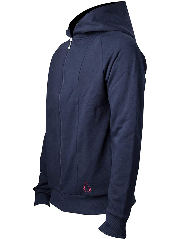 Assassins Creed Movie Sweatshirt Outlined Crest Logo Movie Hoodie Blue