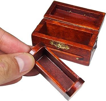 Amazon.es: Odoria 1/12 Miniatura Caja Madera con Estantería de ...