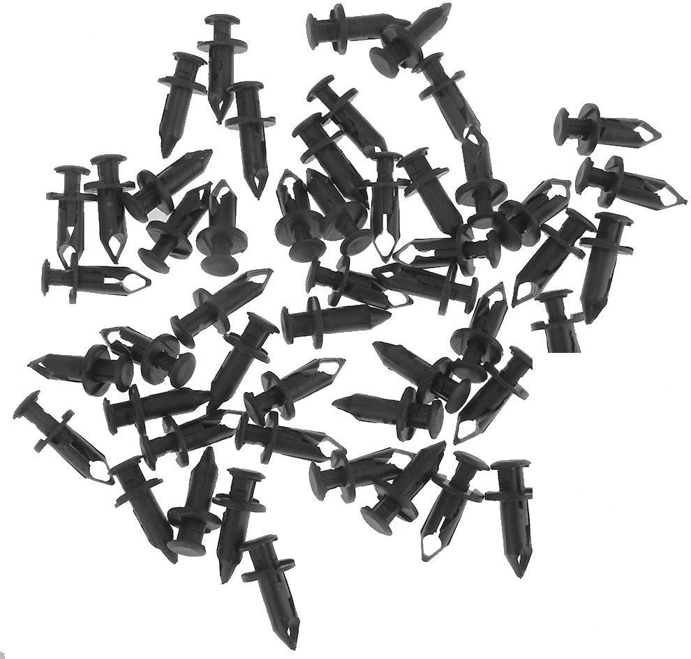 Space-parts 50PCS 8mm Push ATV Fender Clips Body Rivets Fasteners Clamps for Honda Rancher Foreman Rubicon Rincon TRX680 TRX65 07661855 Honda Rancher Foreman TRX Kawasaki