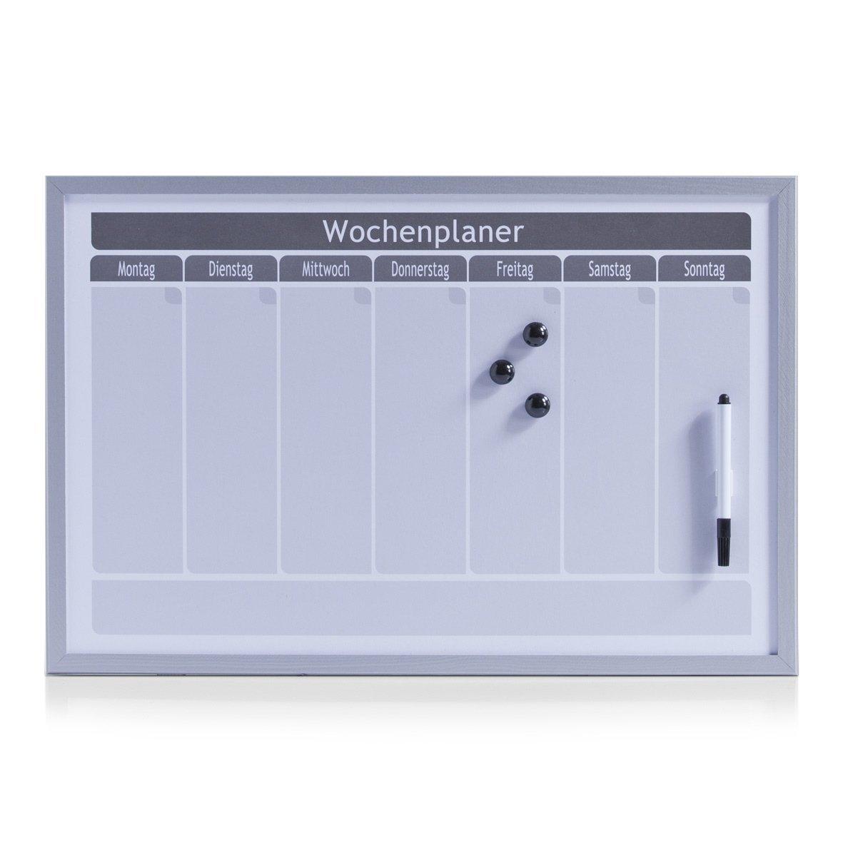Zeller 11515 Planner Settimanale, MDF, Bianco, 59x39.5x1.5 cm