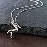 Sterling Silver Pelican Charm Pendant Necklace-20 inches