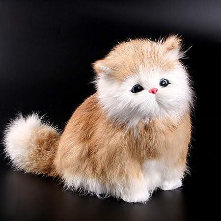 Eleganantamazing - Muñeca electrónica de Pelo Real con diseño de Gato y Juguete de imitación de Animal con función de Sonido, para niños: Amazon.es: Hogar