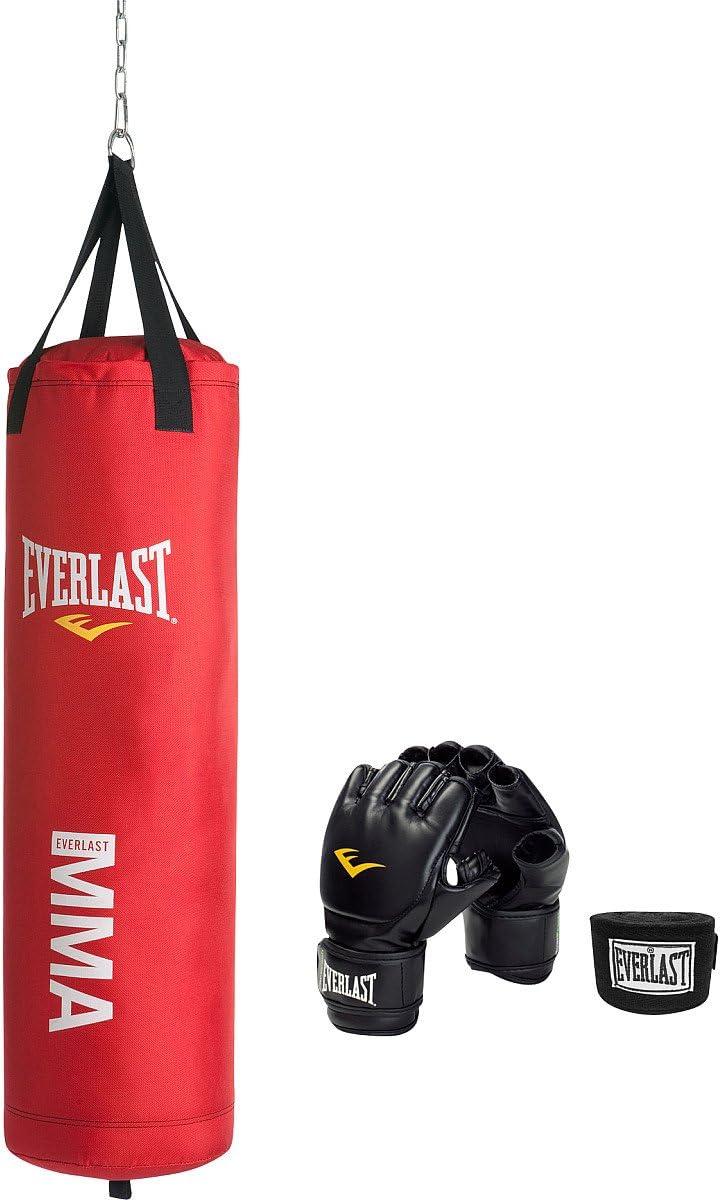 Everlast 70 lb Heavy Bag Kit w gloves wraps boxing MMA punching training NEW