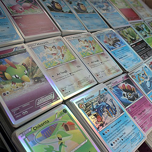 Pokemon TCG 100 CARD COMMON, UNC, RARE HOLO & GUARANTEED EX OR FULL ART (Player Silver Coin Card)