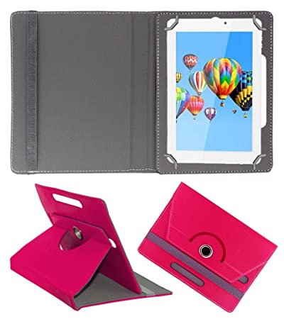 Acm Rotating 360 Leather Flip Case Compatible with Digiflip Xt911 Cover Stand Dark Pink Bags,Cases   Sleeves