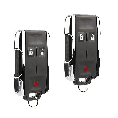 Key Fob Keyless Entry Remote fits Chevy Silverado Colorado/GMC Sierra Canyon 2014 2015 2016 2020 (M3N-32337100 Chrome), Set of 2: Home & Kitchen