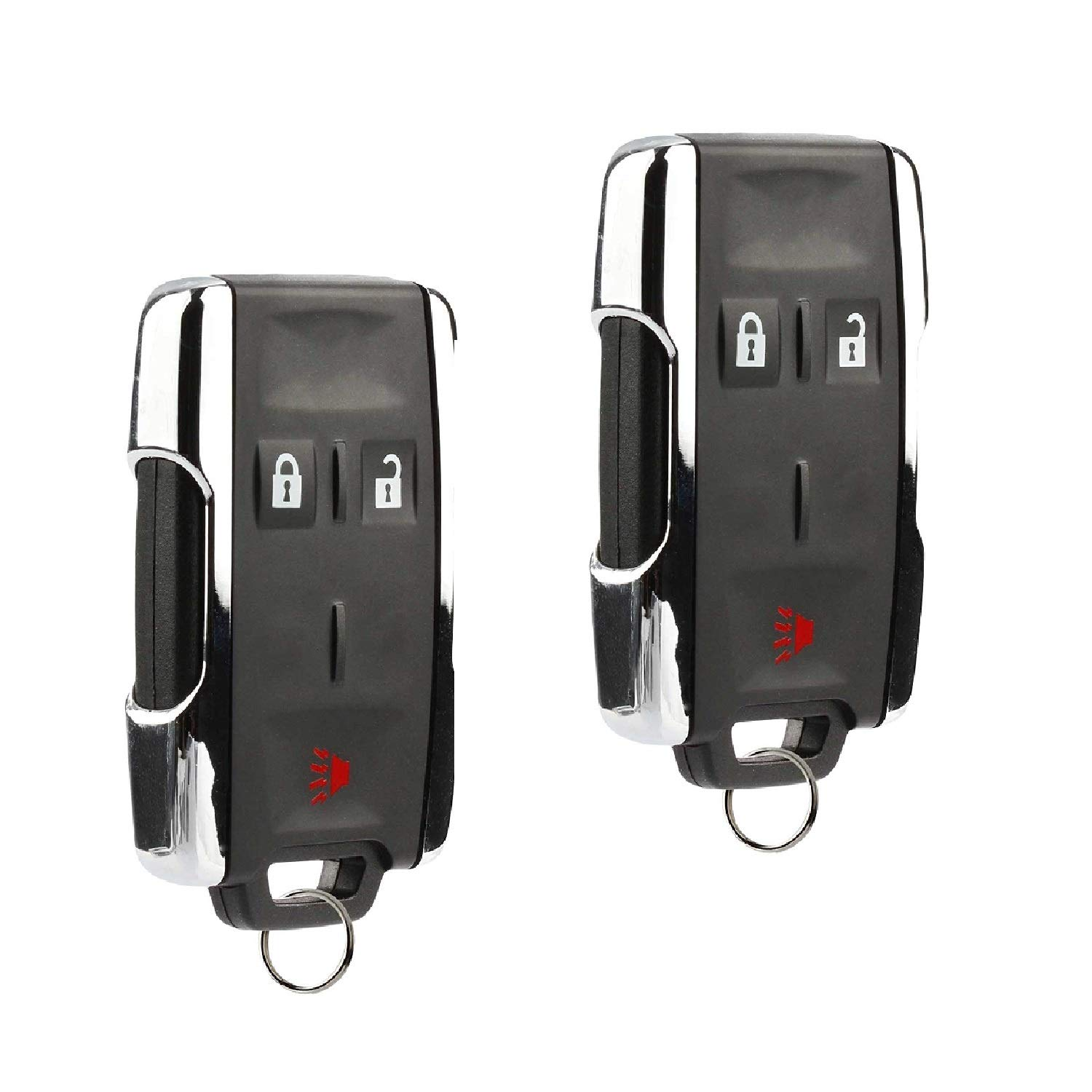 Key Fob Keyless Entry Remote fits Chevy Silverado Colorado/GMC Sierra Canyon 2014 2015 2016 2017 (M3N-32337100 Chrome), Set of 2